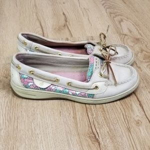 Sperry Top-Sider Leather Bling Floral Boat Shoe